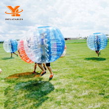 Colorful TPU or PVC Human Sized Inflatable Bubble Soccer Ball, Football Inflatable Body Zorb Ball