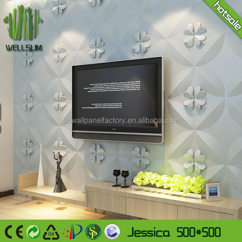 paintable insulation easy clean 3d wall panel price export singapore for living room