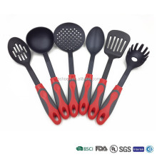 Hot sales nylon cooking set plastic kitchen utensils with spaghetti serving spoon
