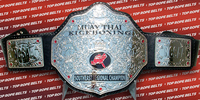 custom muay thai championship belts