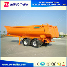 2 axles 40ton U shape heavy truck end dump semi trailer for sale