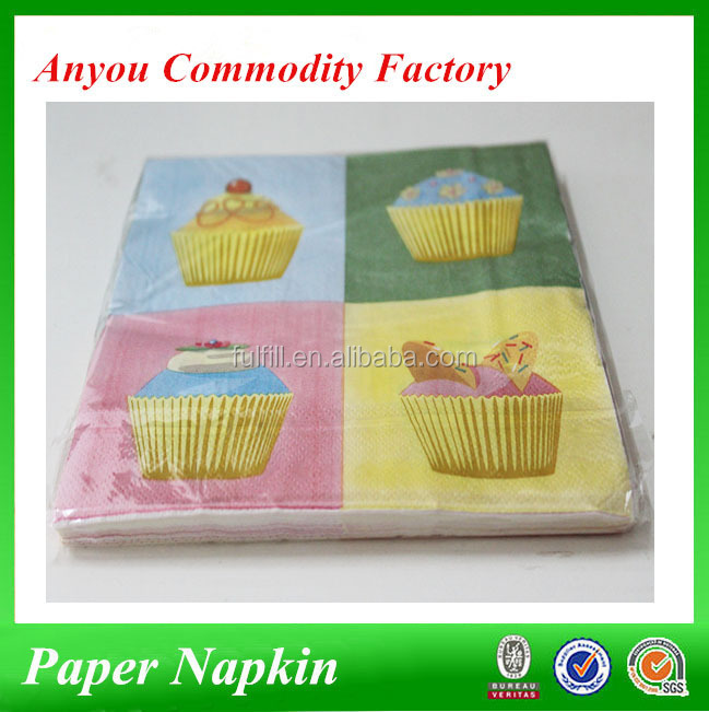 Cupcake printed virgin wood pulp decoration paper tissue,high grade raw materials tissue paper