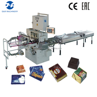 Small chocolate wrapping machine automatic, 3.4KW chocolate fold wrapping machine