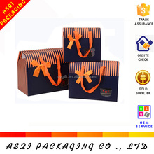 Yiwu factory handmade colorful CMYK printing gift paper bag with cotton handle for wholesale