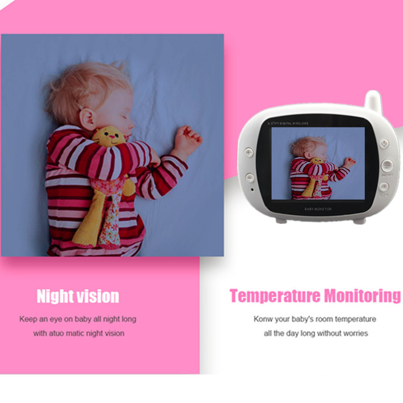 "3.5""LCD Wireless Baby Radio Babysitter 850M Digital Video Baby Monitor Two Way Intercom Security Surveillance Baby Camera"