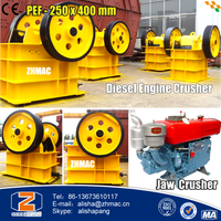 PEF- 250 x 400 Diesel Engine Laboratory Jaw Crusher Price