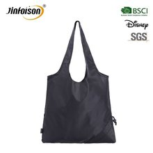 Newly multifunction foldable black nylon tote bag