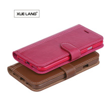 Sublimation Leather Flip Cover OEM blank leather phone cases for Samsung S8 edge cover