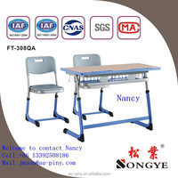 steel frame school furniture / study desk chair for students