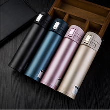 press cap 304 stainless steel vacuum flask Thermoses double wall stainless steel vacuum bottle