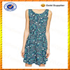 Custom Viscose Summer Dress Sleeveless Paisley Print Smock Dress Private Label Dress Wholesale
