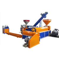 PE PP film woven bags crushing washing recycling machinery /waste plastic recycling and granulating machine