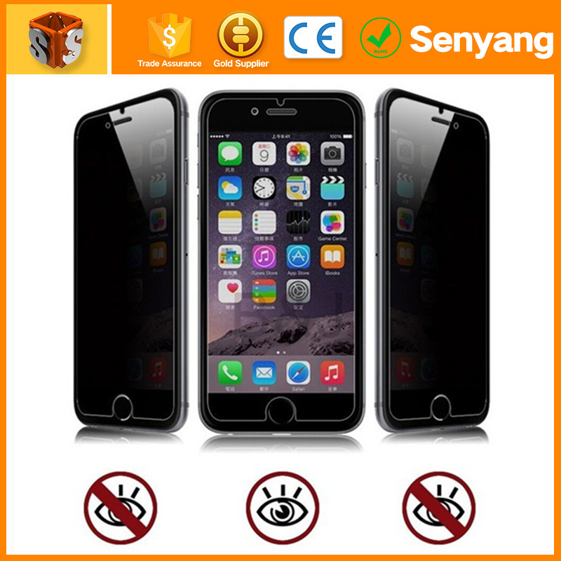 mobile phone accessories dubai Anti-peep privacy Tempered Glass Screen Protector FOR iphone 6