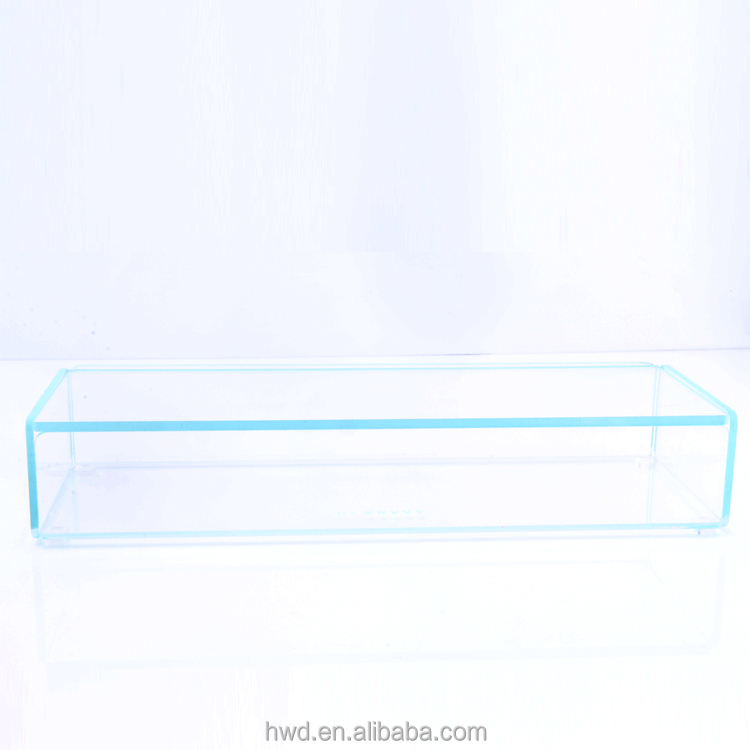 Promotion Frosted Light Blue Acrylic Box /Storage Container With Lid