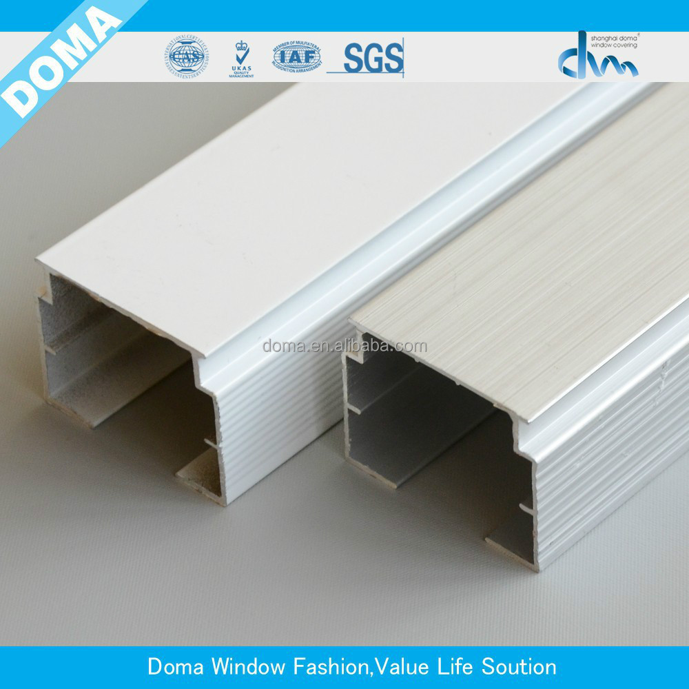 Stable head track for vertical/aluminum vertical blinds head track/vertical blinds components