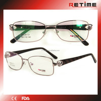 Hot Sale Unique Italy Design Vogue Women Optical Eyeglasses With Stones High Quality (WD-251)