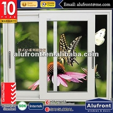 Australia standard energy efficient aluminium sliding window with mosquito screen