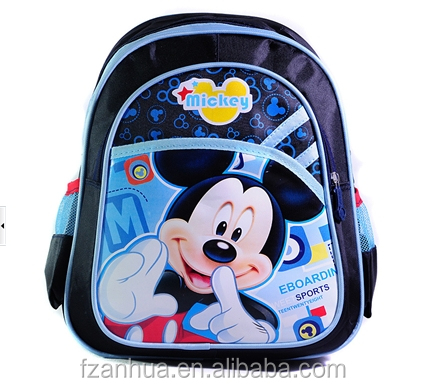 STP002 wholesale used school bags minnie / mickey mouse school bags prices exw price usd1.98-2.98/pc 3pcs sale