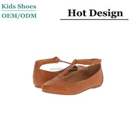 2015 the latest design kids leather shoes OEM kids smart shoes Korea for girls