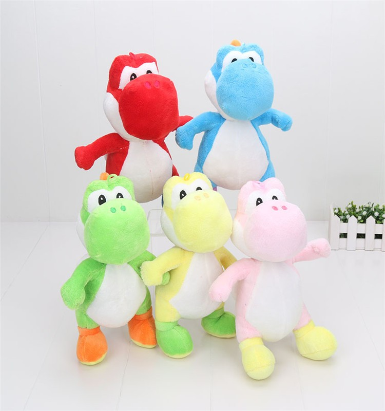 "7"" 18cm Super Mario Bros Yoshi Plush with huk Yoshi Toy Doll 5 Color Selectable plush stuffed toy"