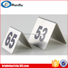 Hotel or restaurant menu card table and desk number card