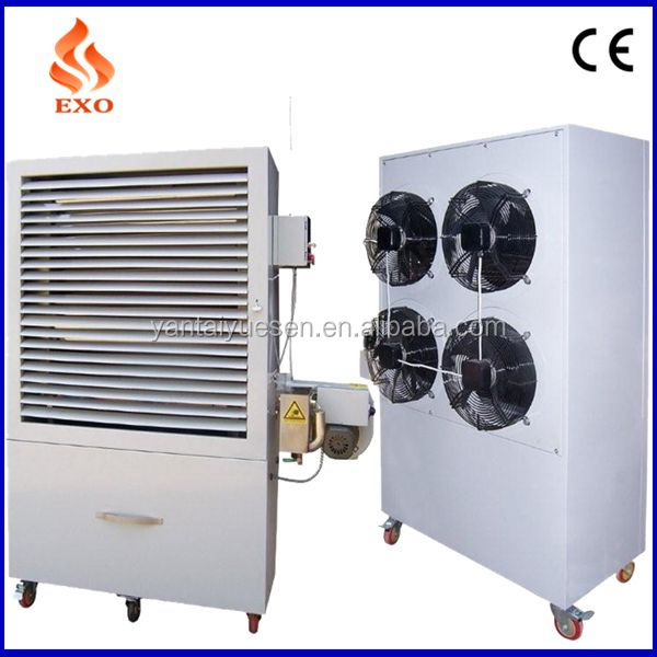 Vertical burner heater with 100L oil tank