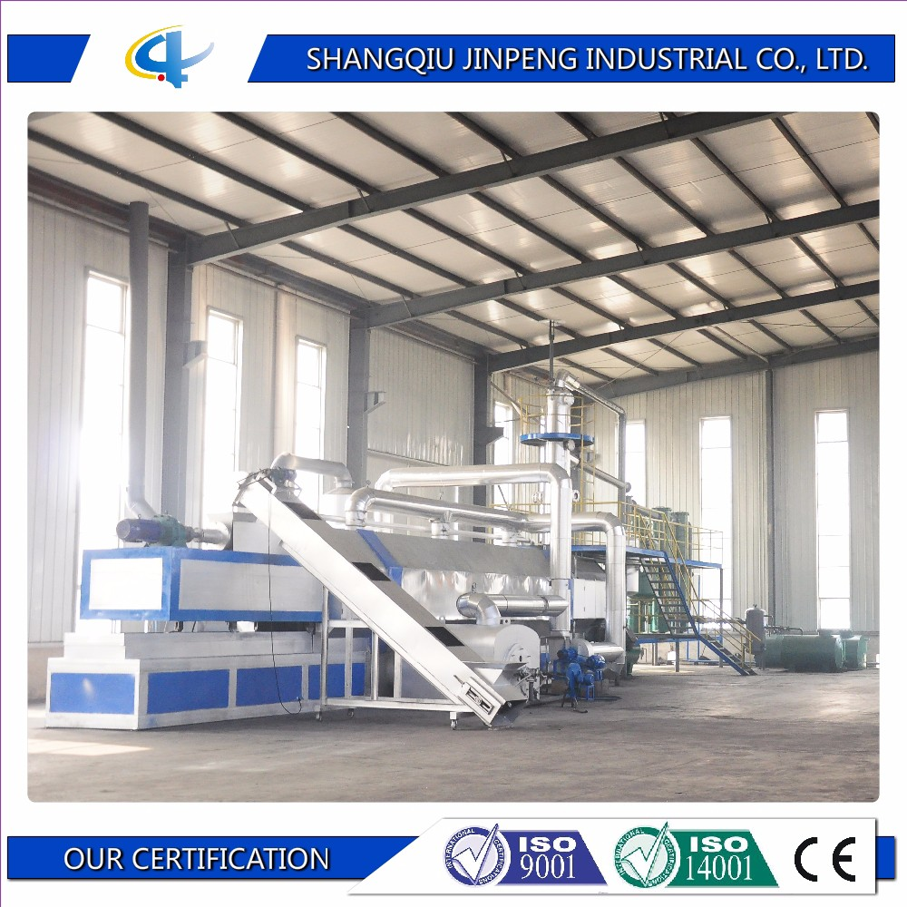 Good price of oil produced from continuous tyre recycling pyrolysis plant with high profit