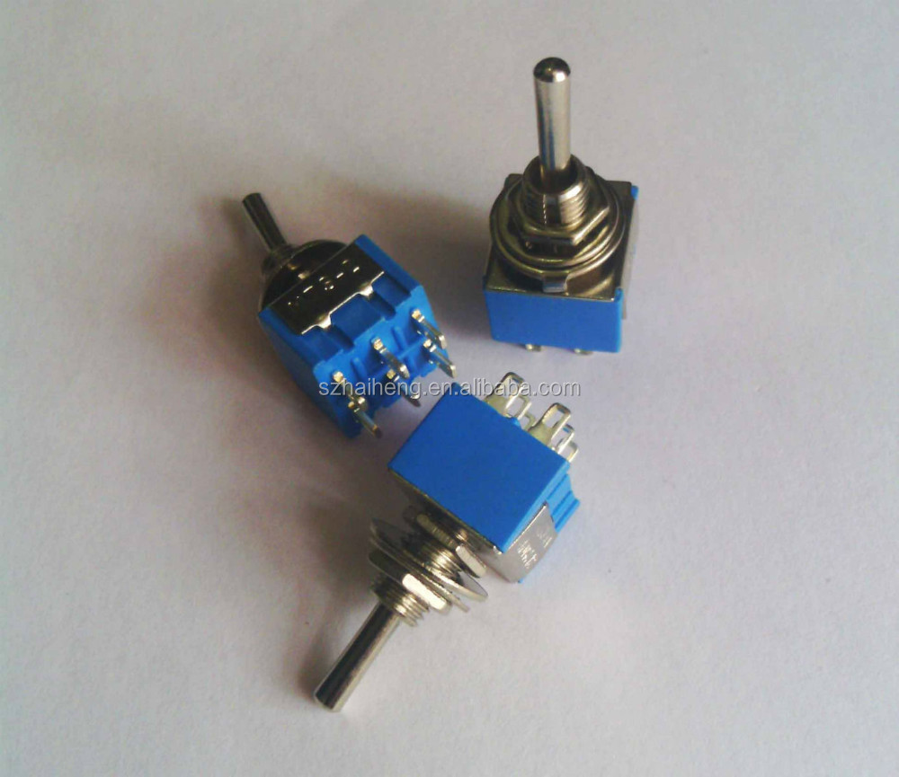 New ON-OFF-ON Mini DPDT Toggle Switch 6 Pin 3A 250VAC 6A 125VAC