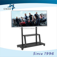 Heavy Duty Rolling AV Cart with Rotating Column Head for 42 Inch to 90 Inch LED/LCD/Plasma TVs with VESA 600x400mm,black