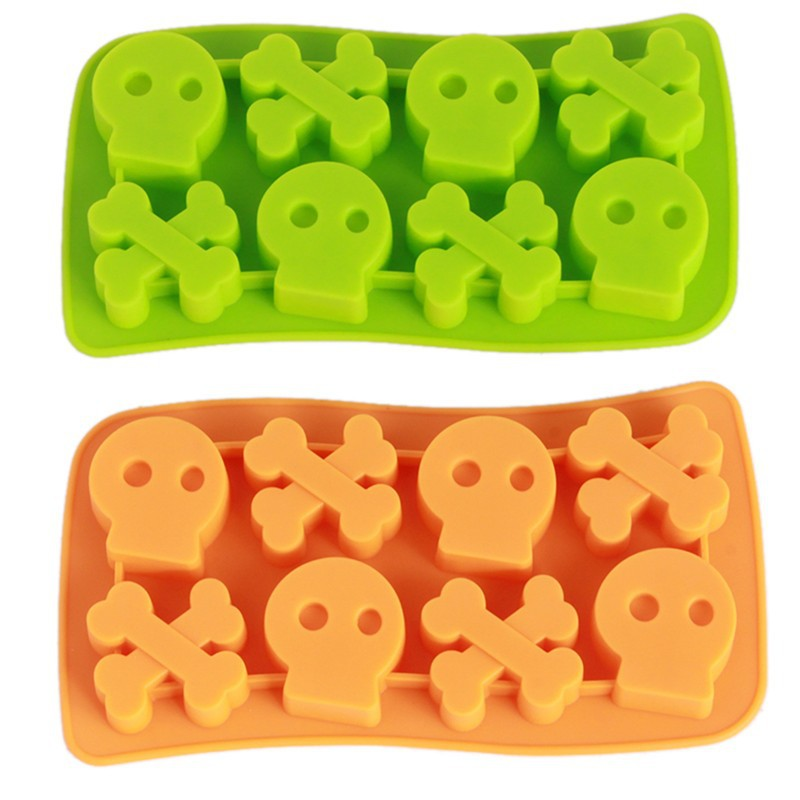 2 COLOR Freeze Skull Mould Mold Cooking Tools Ice Cream Tools