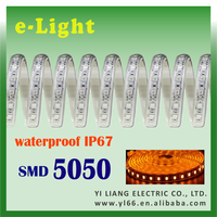 Amber IP67 SMD5050 Taiwan made flexible led strip light for showcase