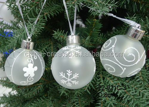 Wholesale glass christmas ball ornaments hanging
