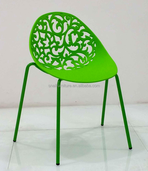 Fancy Hollow Design Bright Colored Pp Plastic Outdoor Leisure Garden Chair