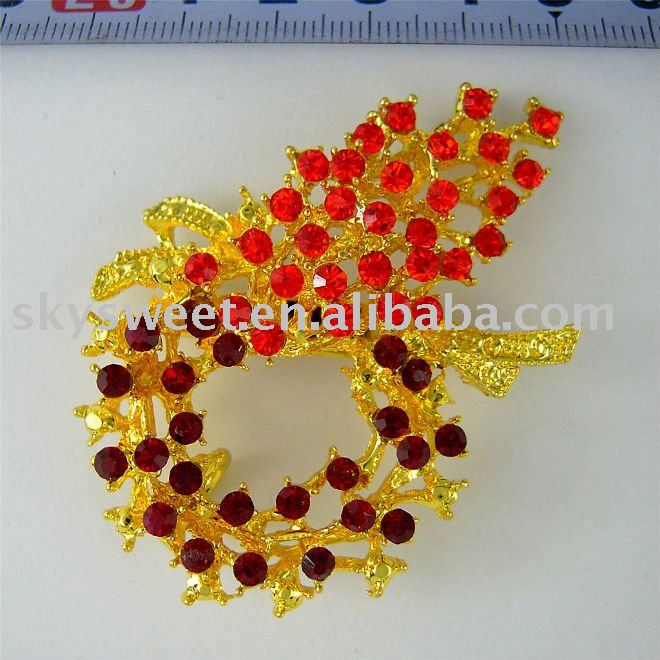 brooch frames,wedding bouquet brooch,Gold Bouquet Brooch (SWTB732)