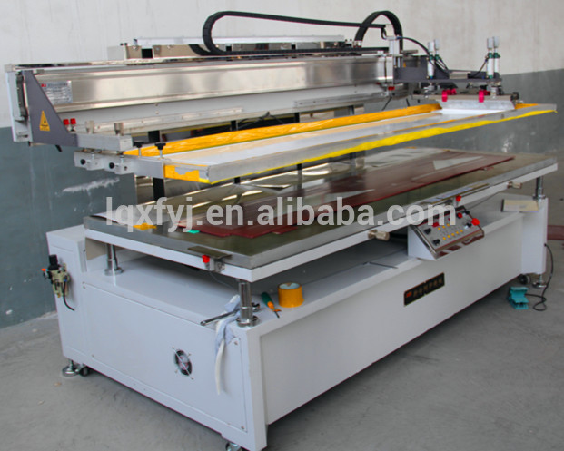 Motor driving silk screen printer with vacuum table