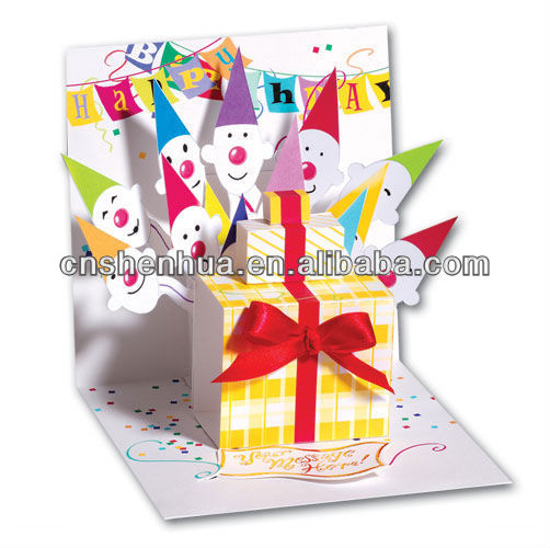 chirstmas pop-up greeting card