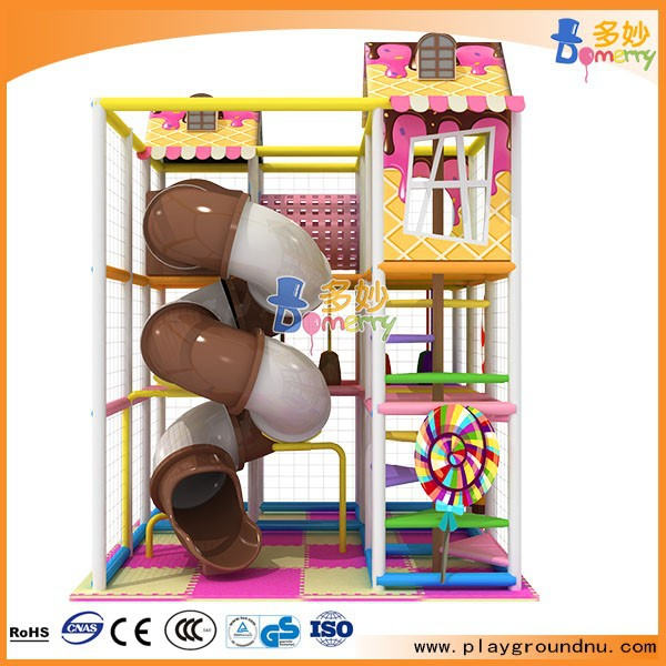 amusing kids indoor playground for sale with tube closed slide