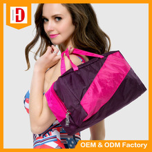 High Quality Dry Wet Separation Waterproof Nylon Beach Bags With Zipper