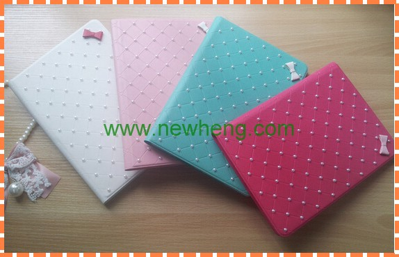 Bling Diamante Flip Leather Case for iPad 5