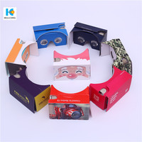 custom printed cheap promotional vr 3d glasses headset google cardboard professional supplier