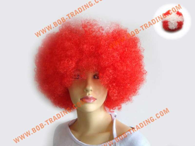 Hot-selling Soccer fans wig hair,Football fans wig,Party wigs fashion knitted headbands