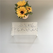 Retail wall mounted acrylic shoes display stand holder