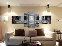 Modern Abstract Canvas Oil Painting abstract black white I love my family home