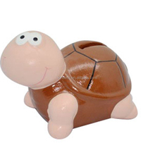 Personalized Painted ceramic turtle shaped piggy money banks