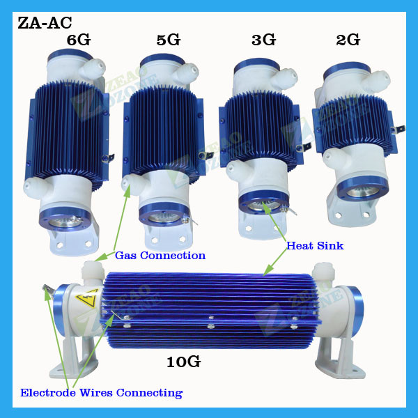 ozone air purifier tube, air cooled ceramic ozone tube generator for sale
