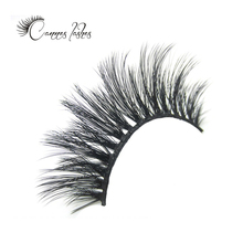 private label mink eyelashes round case eyelashes 3d silk eye lashes