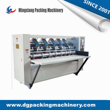 Strong quality 4 knife 6 score thin blade slitter scorer machine Electric Adjust Slitting Creasing Paperboard Machine