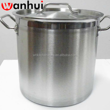 NSF Listing LOW MOQ commercial Induction large stainless steel stock pots