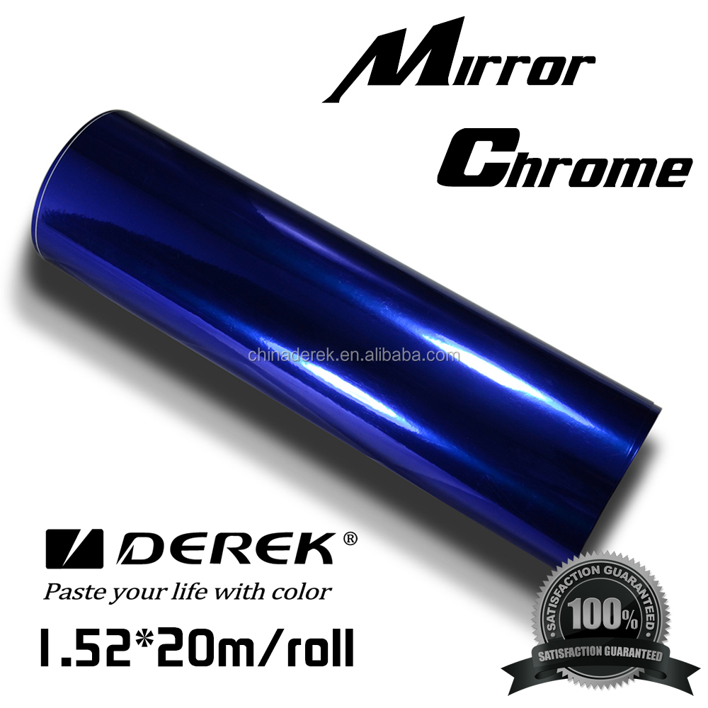 New Style 1.52*20m/roll chrome mirror car wrap film for car body use