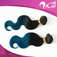 Hot New Product for 2014 Hot Sale Body Wave 2 Tone Colors Ombre Hair Weft